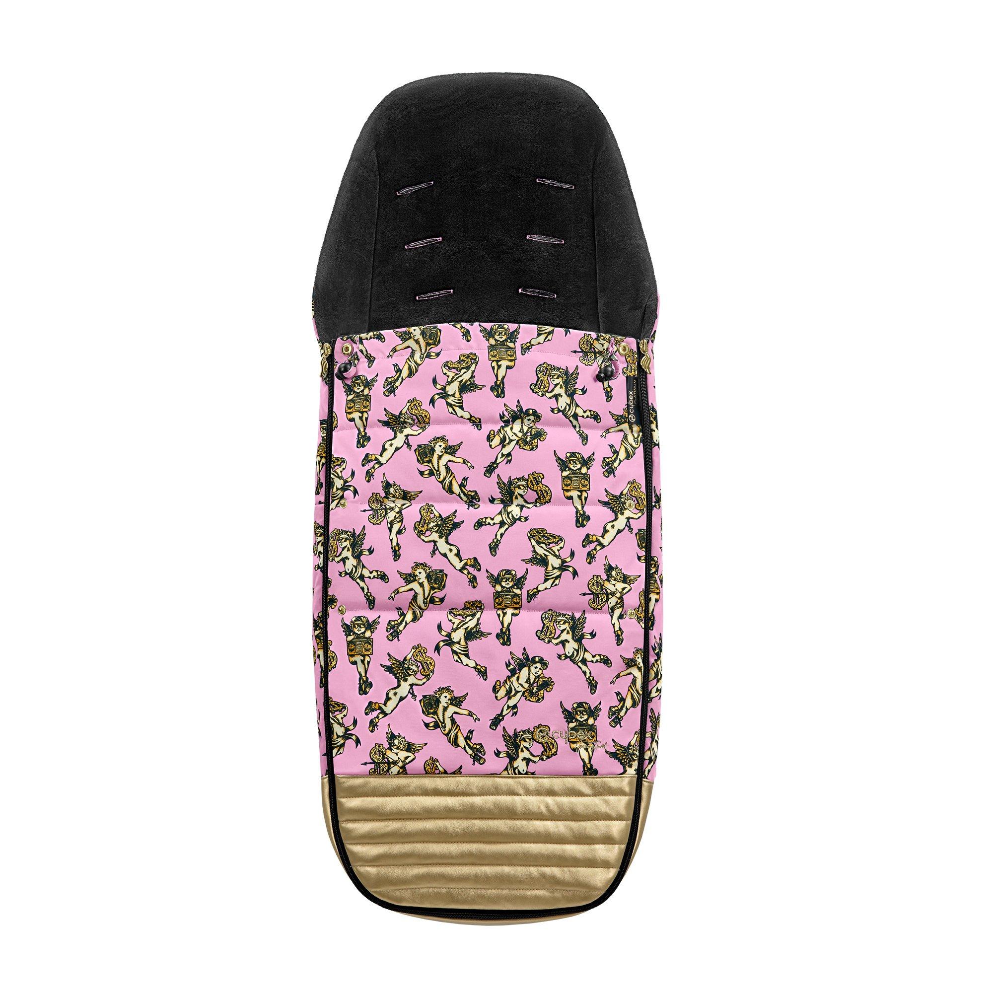 Bērnu ratu guļammaiss Cybex FOOTMUFF Cherub Pink by Jeremy Scott