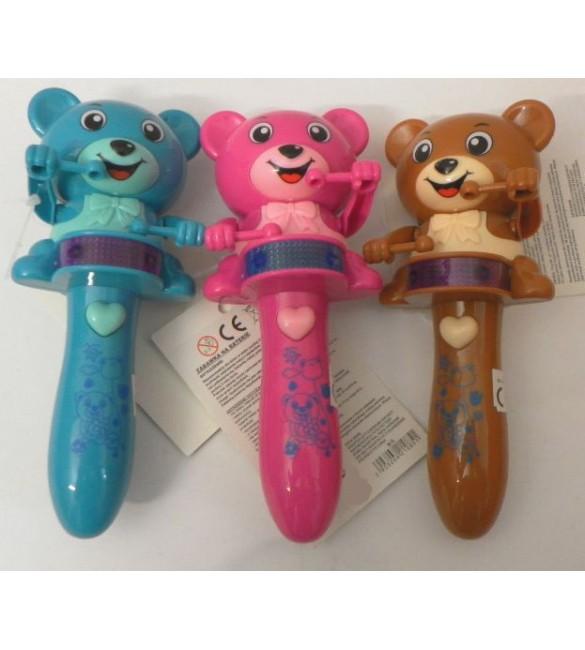 Bērnu rotaļlieta ar skaņām + gaismām Lācītis 30 cm TA9900B