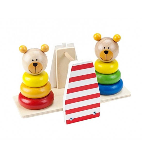 Bērnu rotaļlieta no koka Balansējošie lāči MALIMAS K4914