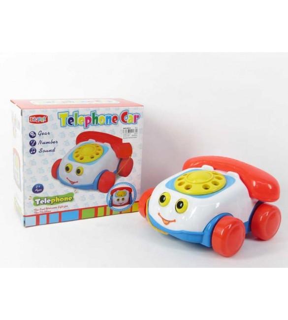 Bērnu rotaļlieta Telefons velkamais ar skaņu 20 cm BG018654