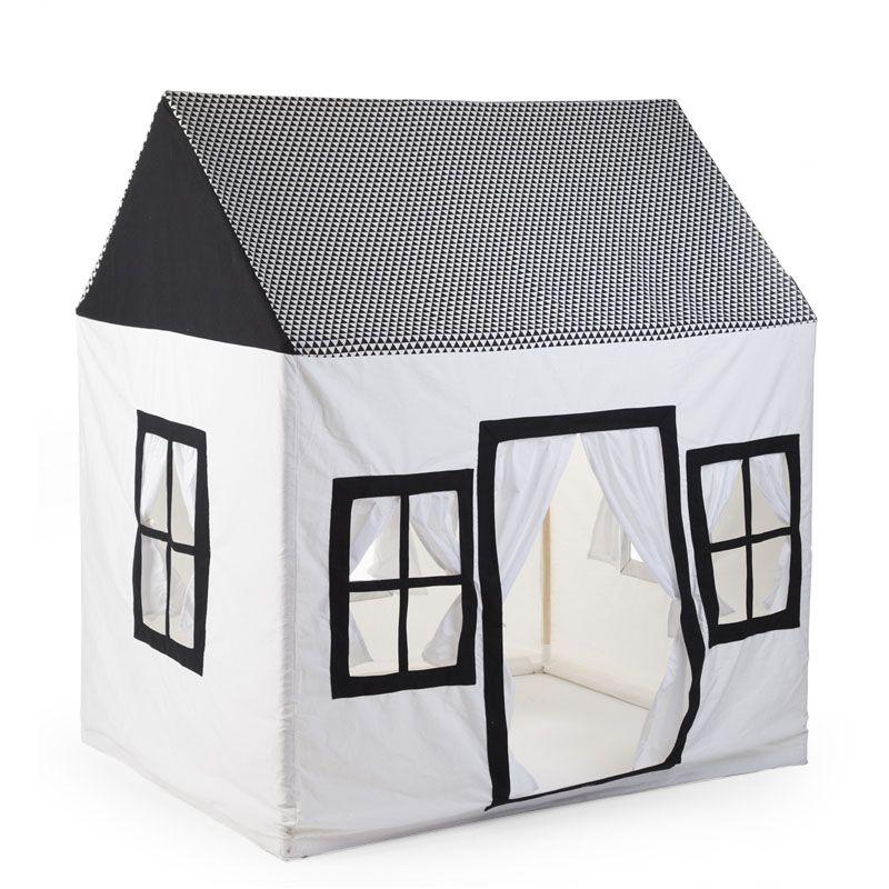 Bērnu rotaļu mājiņa 125x95x145 сm CHILDHOME black+white