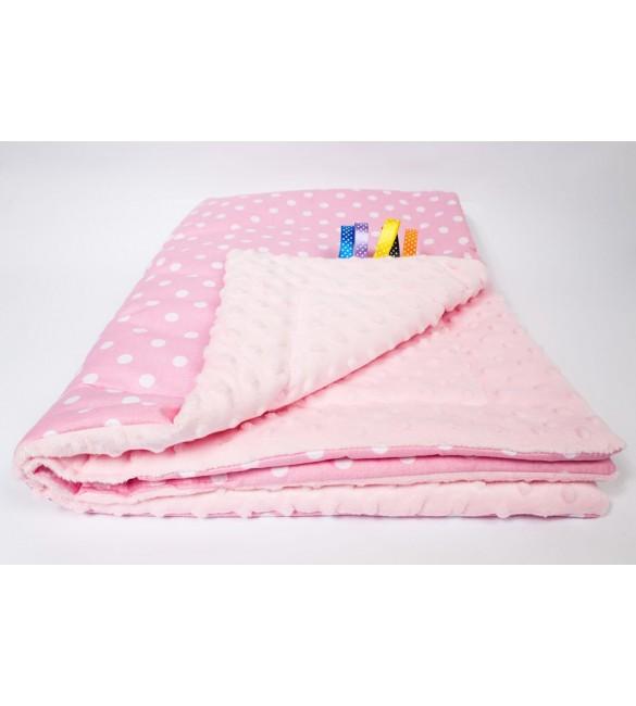 Bērnu sedziņa Divpusēja 75x100 cm ANKRAS MINKY pink-pink