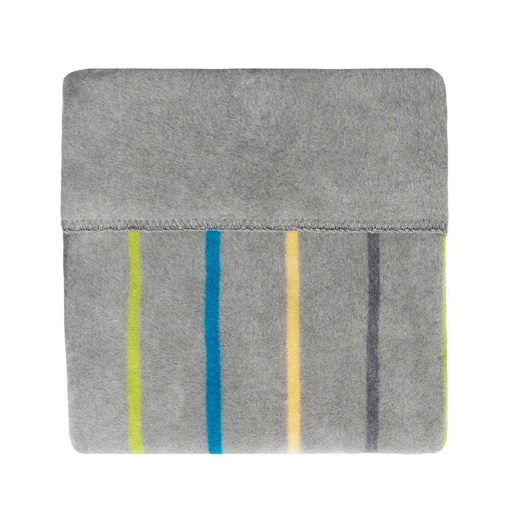 Bērnu sedziņa kokvilnas Womar 100x150 cm GREY/BLUE STRIPES KB-068