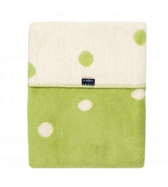 Bērnu sedziņa - plediņš 75x100 cm 100% kokvilna Womar green/white spots KB-017
