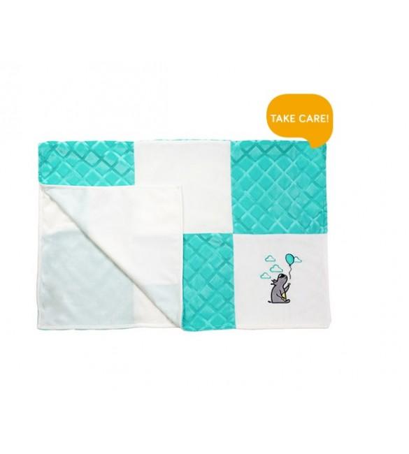 Bērnu sedziņa - plediņš 75x100 cm BabyOno MINKY patchwork mint 1411/02