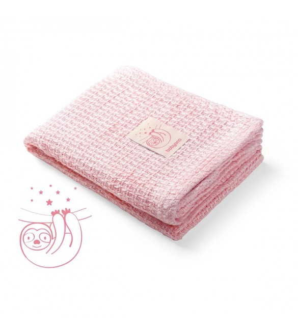 Bērnu sedziņa - plediņš Trikotāža 75 x 100 cm BabyOno BAMBOO pink 479/01