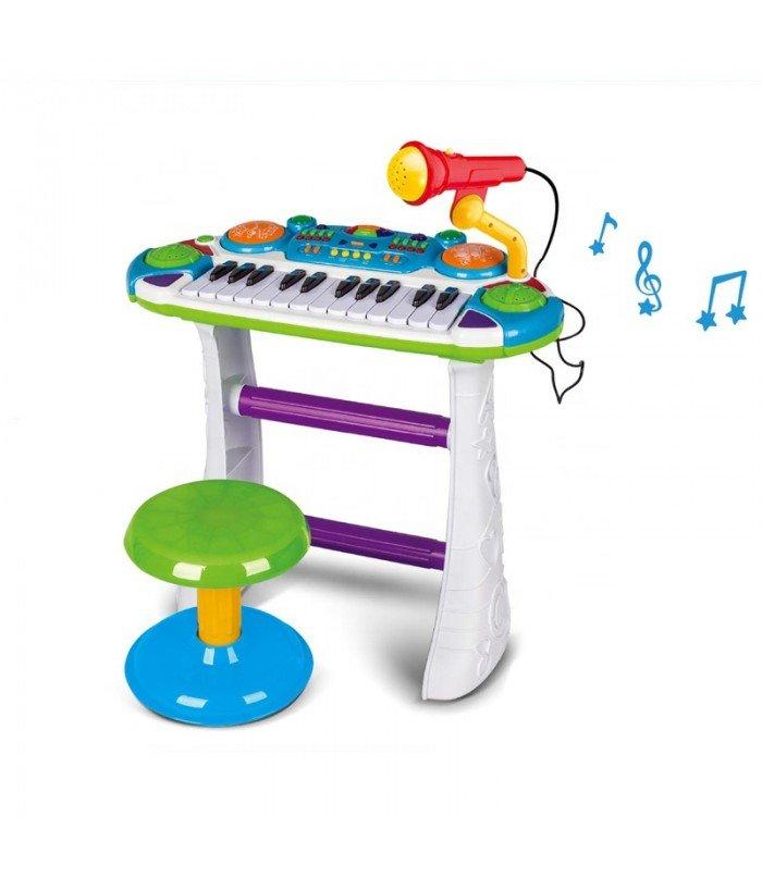 Bērnu sintezators ar mikrofonu B15 Green