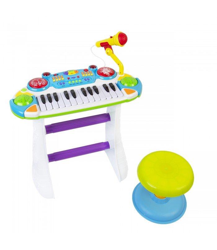 Bērnu sintezators ar mikrofonu B15 Yellow