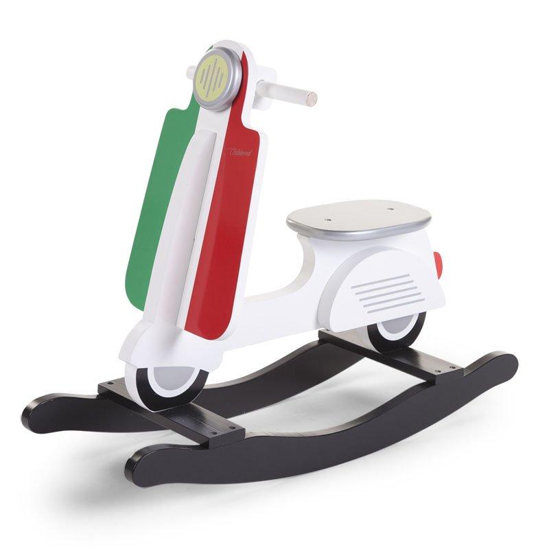 Bērnu šūpuļkrēsls Skūteris CHILDHOME Rocking Scooter Italy