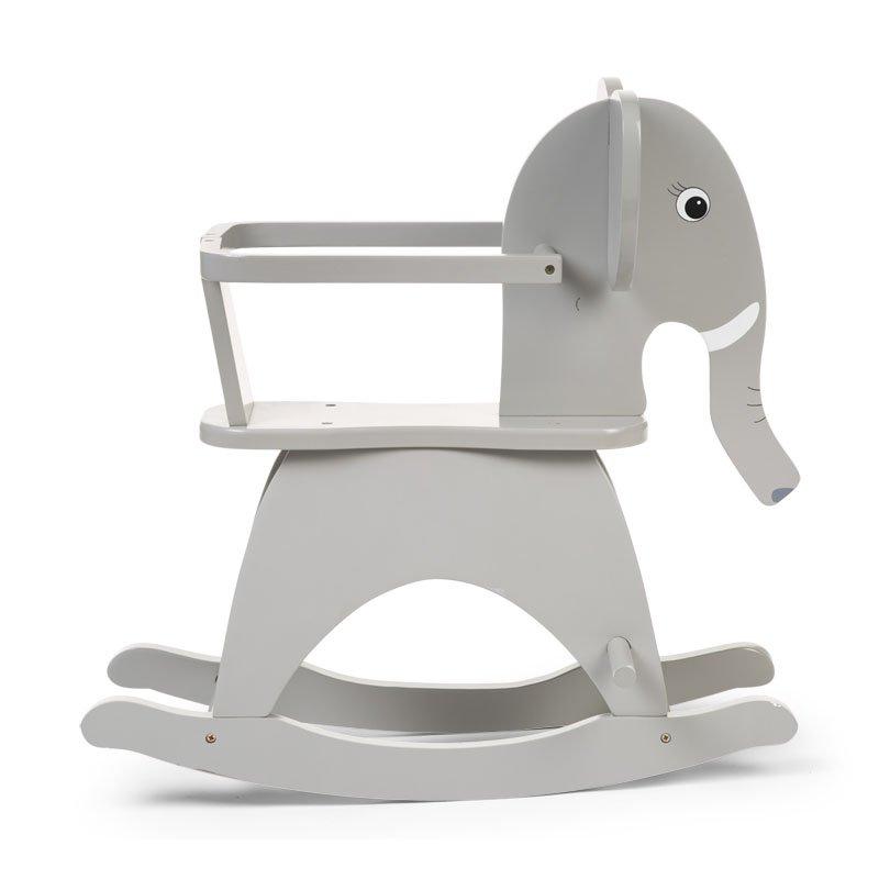 Bērnu šūpuļkrēsls Zilonis CHILDHOME Rocking Elephant grey + Brace