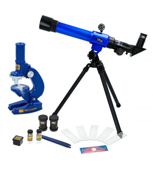 Bērnu teleskops + Mikroskops ar eksperimentālo komplektu CB44830