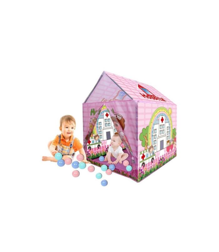 Bērnu telts - Māja + 20 bumbiņas Hospital