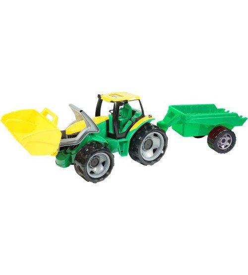 Bērnu Traktors ar piekabi un kausu kastē LENA L02123