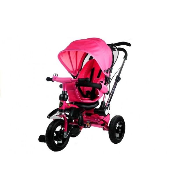 Bērnu trīsritenis ar pumpējamiem riteņiem PRO700 pink 3793