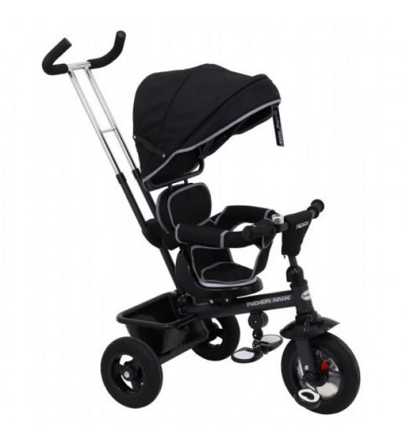 Bērnu trīsritenis BabyMix RIDER MIX 360° B31-5BLACK