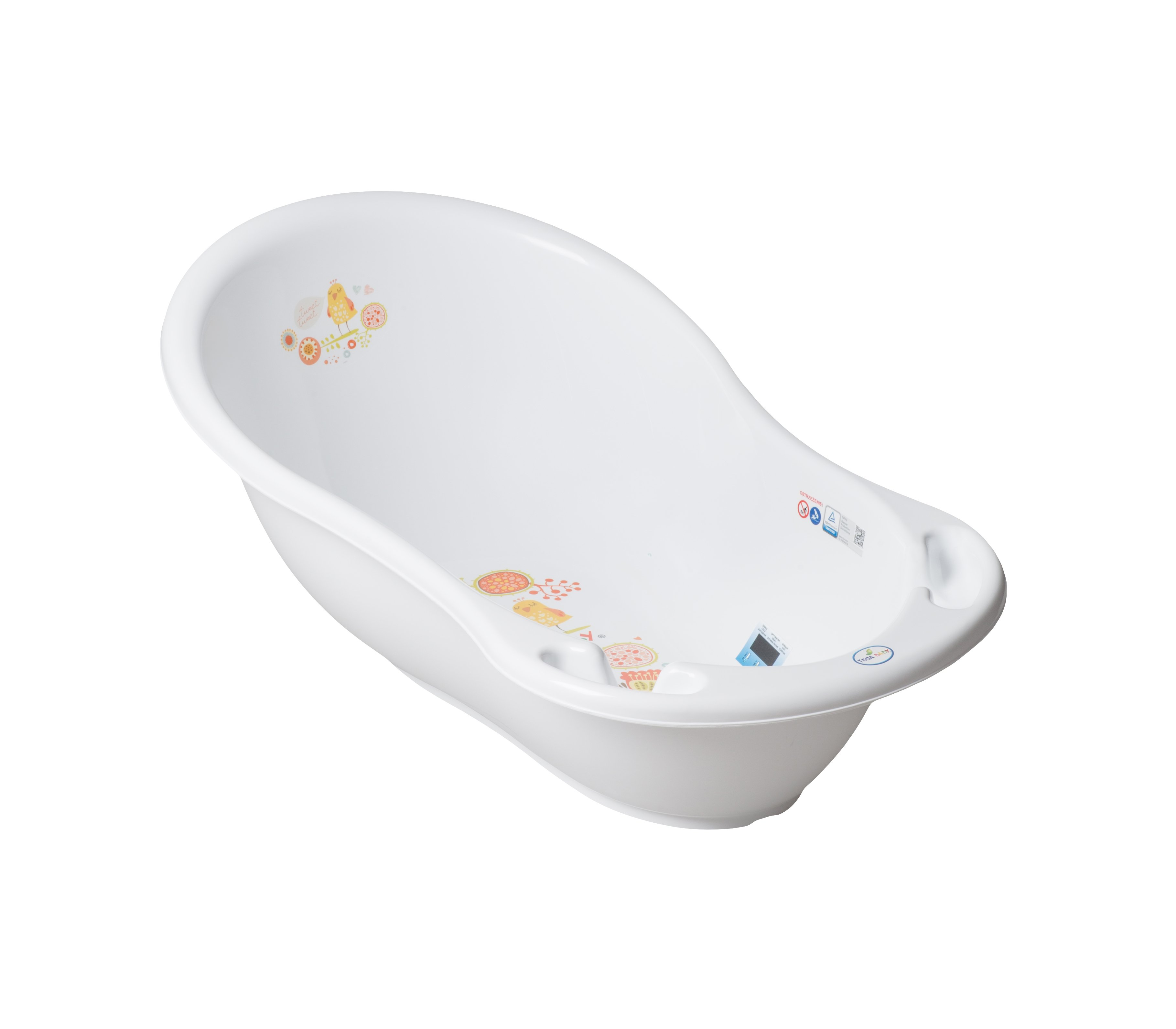 Bērnu vanna ar termometru 86 cm TegaBaby FOLK white FL-004