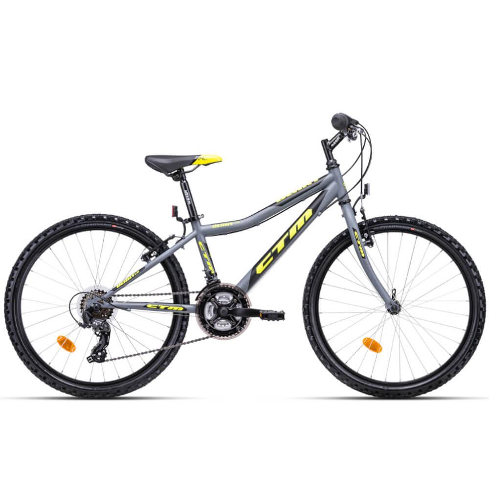 "Bērnu velosipēds CTM Berry 1.0 24"" Grey yellow"