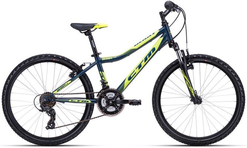 "Bērnu velosipēds CTM Berry 2.0 24"" Grey yellow"