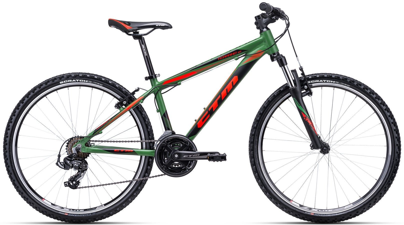 "Bērnu velosipēds CTM MTB alloy Terrano 1.0 26"" Olive Orange"