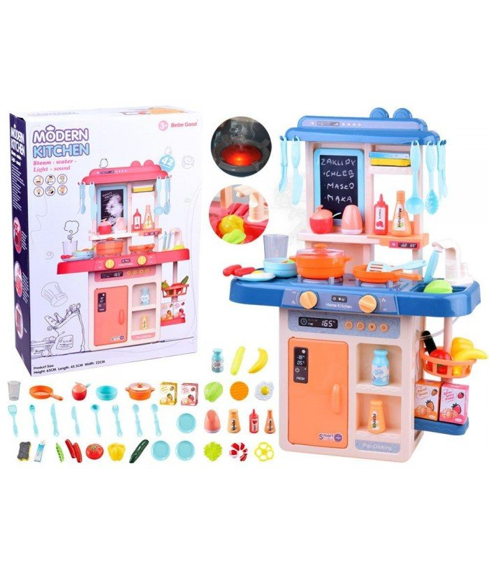 Bērnu virtuve ar aksesuāriem Modern Kitchen Blue
