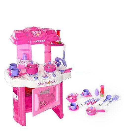Bērnu virtuves plīts ar piederumiem + skaņu + gaismu 20 detaļas 136403