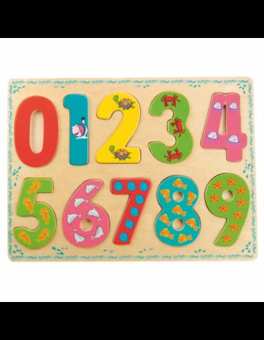 Bino Puzzle Numbers Koka puzle Cipari