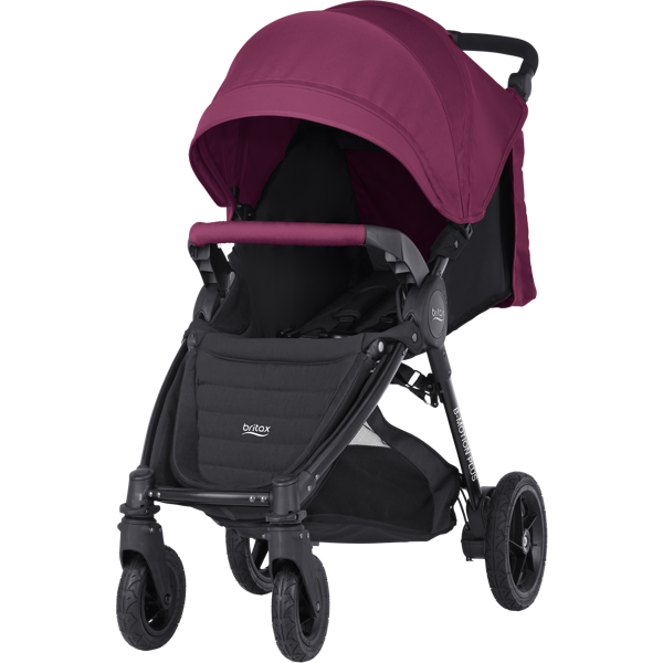 Britax Romer B-Motion 4 Plus Wine Red Sporta ratiņi