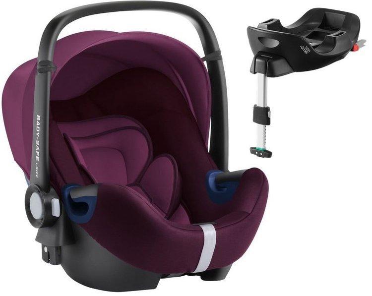 Britax Romer Baby-Safe 2 I-Size Burgundy red Bērnu autosēdeklis 0-13 kg + Flex Isofix bāze