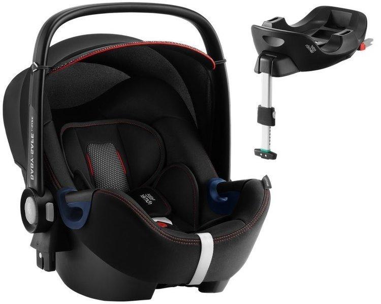 Britax Romer Baby-Safe 2 I-Size Cool Flow Black Bērnu autosēdeklis 0-13 kg + Flex Isofix bāze