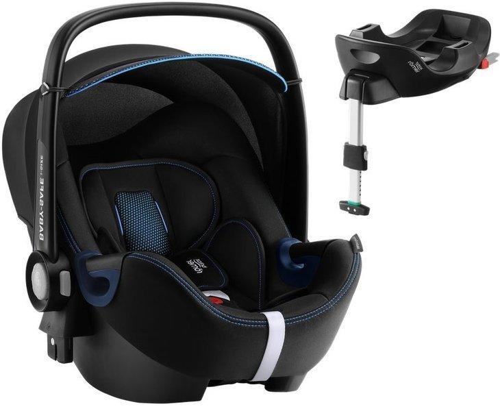 Britax Romer Baby-Safe 2 I-Size Cool Flow Blue Bērnu autosēdeklis 0-13 kg + Flex Isofix bāze