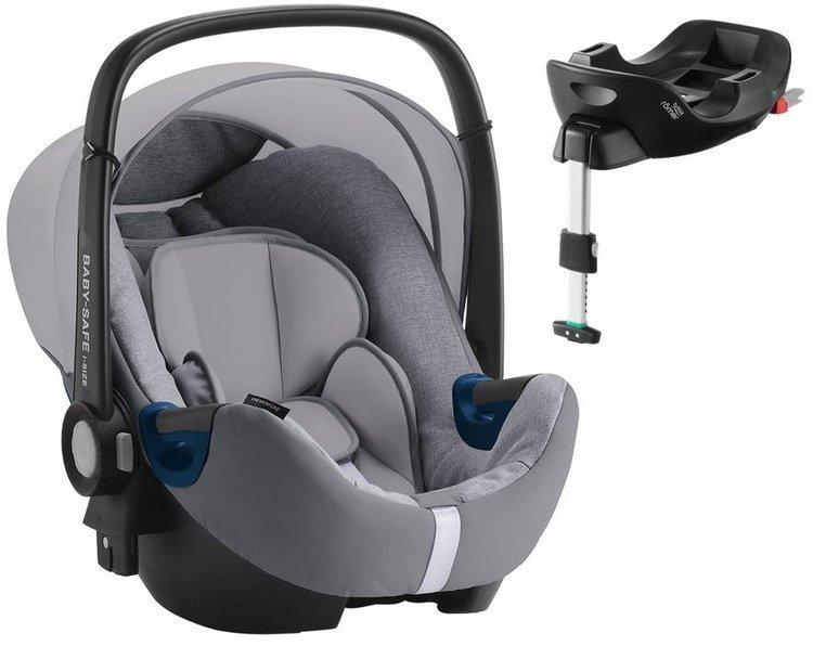 Britax Romer Baby-Safe 2 I-Size Grey marble Bērnu autosēdeklis 0-13 kg + Flex Isofix bāze
