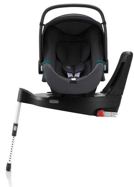 Britax Romer Baby-Safe 3 I-Size Midnight grey Bērnu autosēdeklis 0-13 kg + Flex iSense bāze