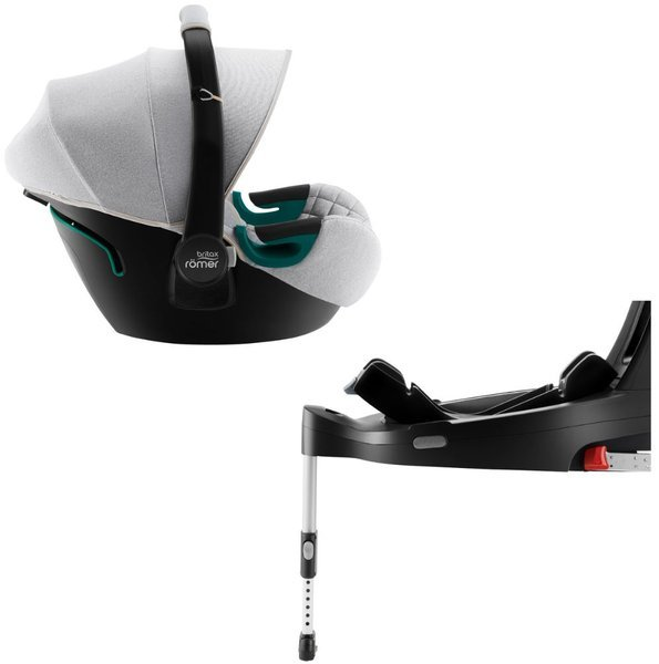 Britax Romer Baby-Safe 3 I-Size Nordic grey Bērnu autosēdeklis 0-13 kg + Flex iSense bāze