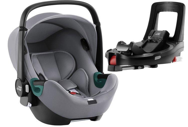 Britax Romer Baby-Safe iSense i-Size Frost grey + Flex iSENSE Base Bērnu autosēdeklis 0-13 kg