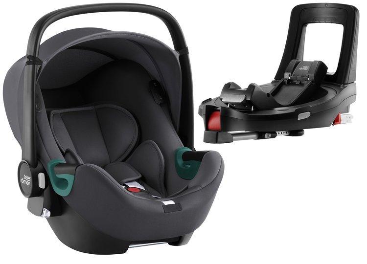 Britax Romer Baby-Safe iSense i-Size Midnight grey + Flex iSENSE Base Bērnu autosēdeklis 0-13 kg