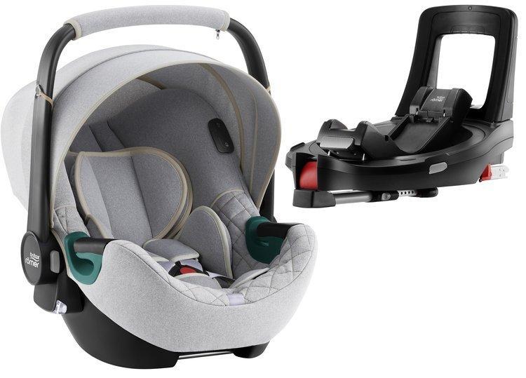 Britax Romer Baby-Safe iSense i-Size Nordic grey + Flex iSENSE Base Bērnu autosēdeklis 0-13 kg