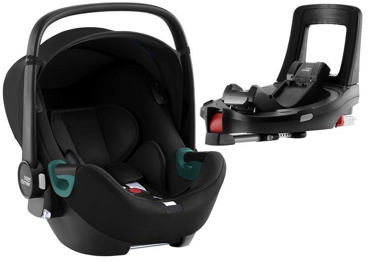 Britax Romer Baby-Safe iSense i-Size Space black + Flex iSENSE Base Bērnu autosēdeklis 0-13 kg