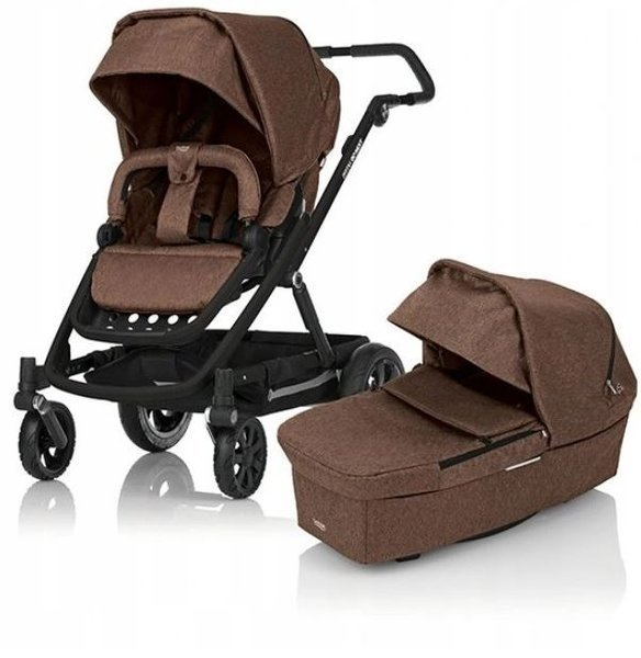 Britax Romer Go Next Brown Melange Bērnu rati 2in1