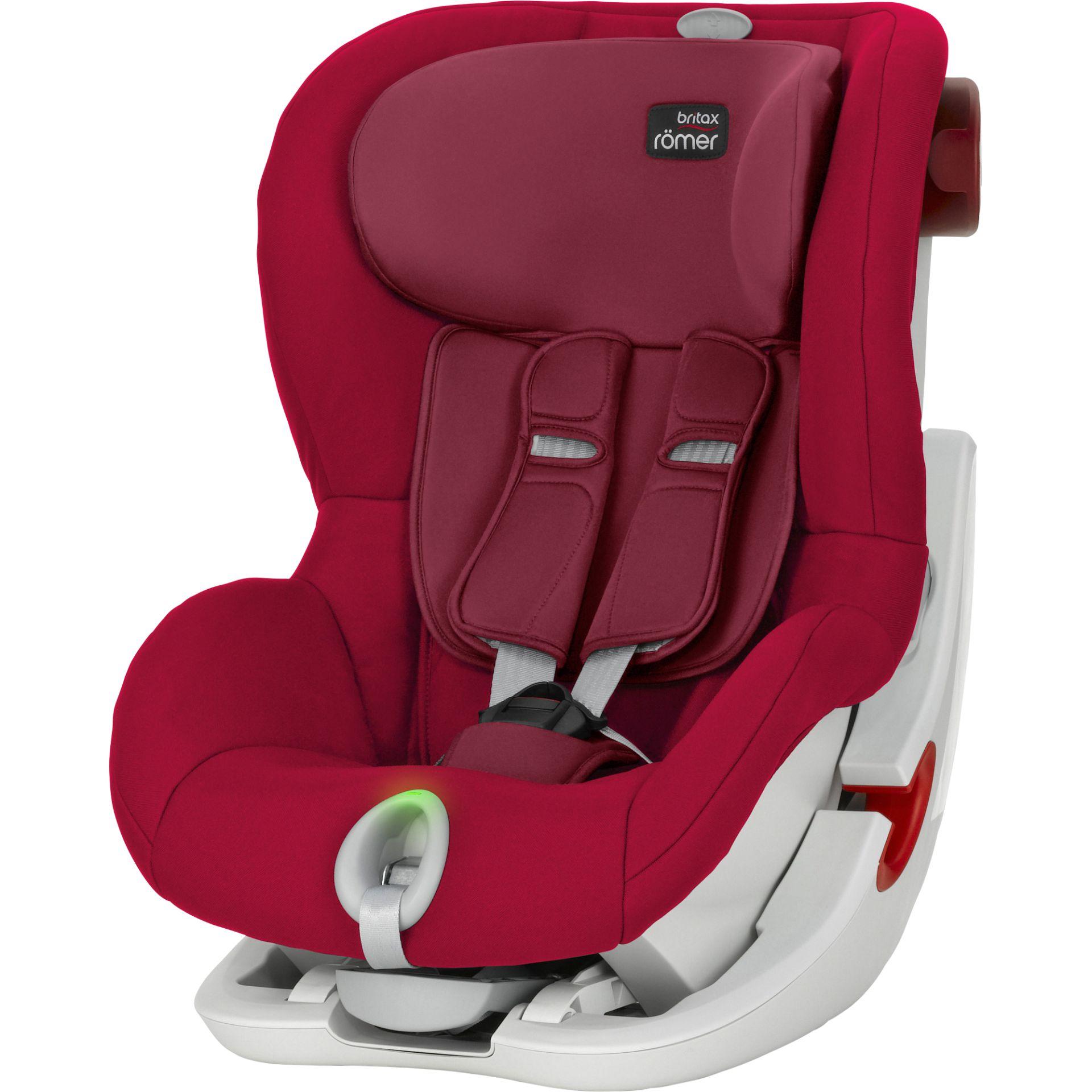 Britax Romer King II LS Flame Red White frame Bērnu autosēdeklis 9-18 kg