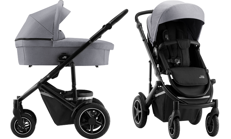 Britax Romer Smile 3 Frost Grey/Black Bērnu rati 2in1
