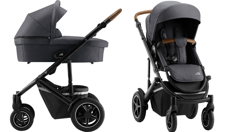 Britax Romer Smile 3 Midnight Grey Bērnu rati 2in1