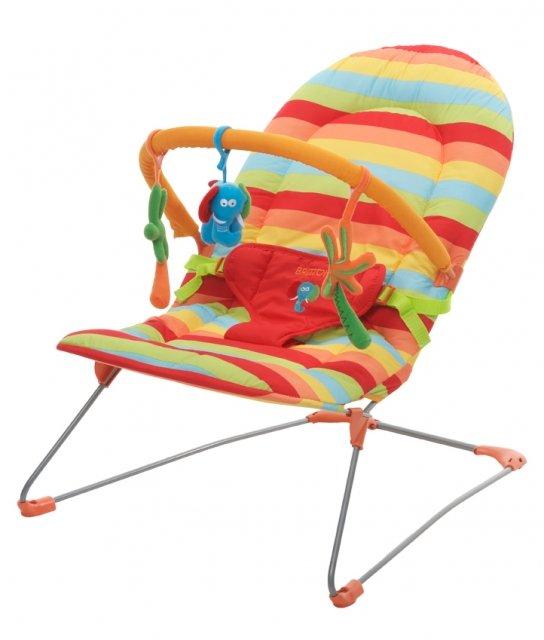 Britton Rainbow Šūpuļkrēsliņš ar attīstošām mantiņām