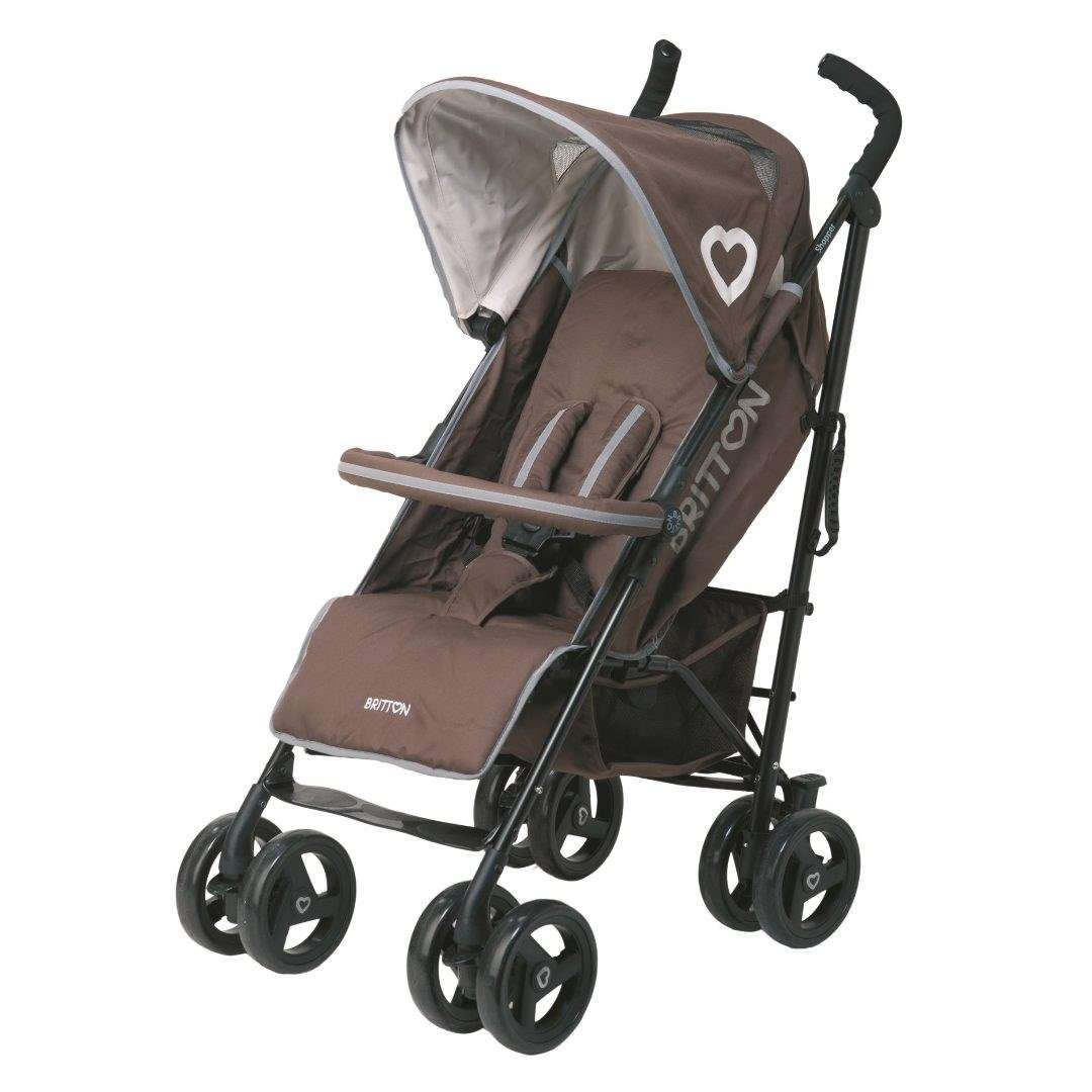 Britton Shopper Ash Brown Sporta lietussarga tipa ratiņi