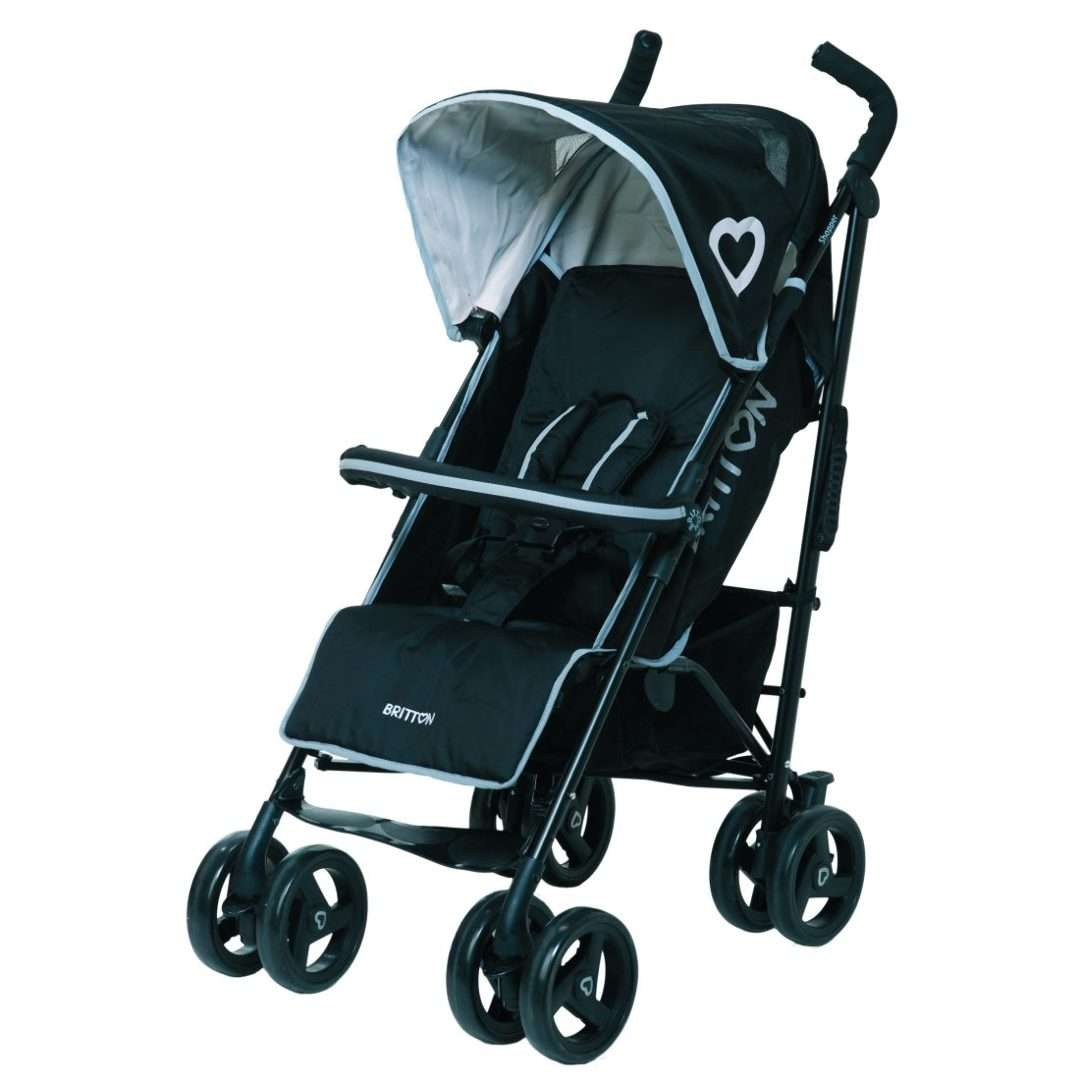 Britton Shopper Black Sporta lietussarga tipa ratiņi