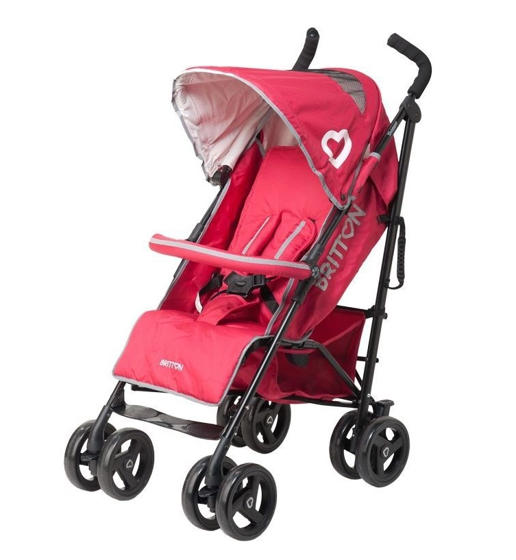 Britton Shopper Raspberry Sporta lietussarga tipa ratiņi