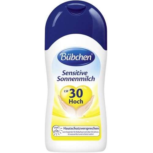 Bubchen Sensitive Milk Sauļošanās pieniņš ar aizsargfaktoru 30, 50 ml