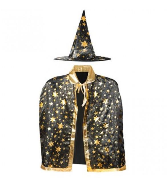 Burvja kostīms: apmetnis + cepure LASSIE IST-4357