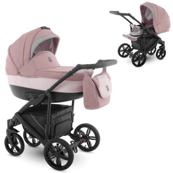 Camarelo Baleo BA-pink Bērnu rati 2in1