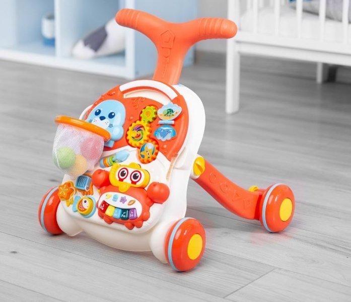 Caretero Toyz Interaktīvais galdiņš-staigulītis Orange 2in1