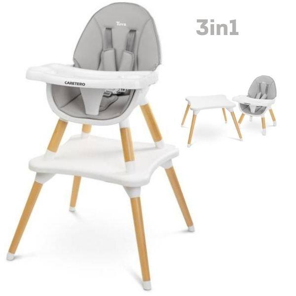 Caretero Tuva Grey 3 in 1 Barošanas krēsls